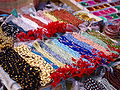 Colourful necklaces at street stall, Varanasi.jpg