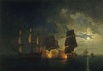 HMS Neptune (1683) - Image: Combat du Scipion conte le London Rossel de Cercy mg 5095c