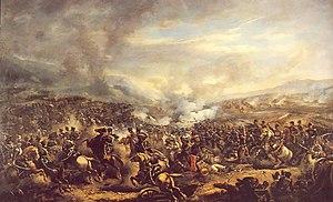 Battle of El Roble - Battle of El Roble, Pintura de Manuel Tapia Portus (1835-1915)