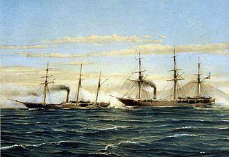 Battle of Papudo - Image: Combate naval de Papudo