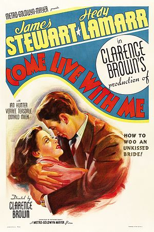 Come Live with Me (film) - Image: Come Live with Me 1941 poster
