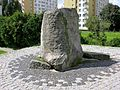 Commemorative stone on top of Anielewicz's Mound at 18 Mila Street.JPG