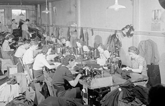 Clothing industry - Clothing factory in Montreal, Quebec, in 1941.