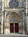Compiègne (60), église St-Antoine, façade occidentale, portail.jpg