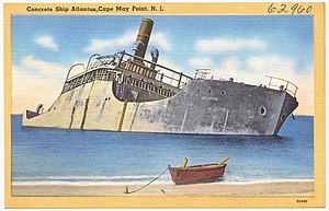 SS Atlantus - Image: Concrete ship Atlantus, Cape May Point, N. J