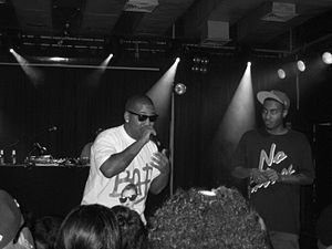 Chuck Inglish - Chuck Inglish (left) performing with Sir Michael Rocks in July 2008