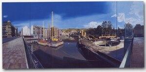 Obras del Metro, Puente del Arenal. Bilbao.
