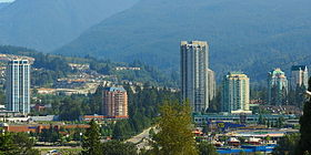 The skyline of Coquitlam