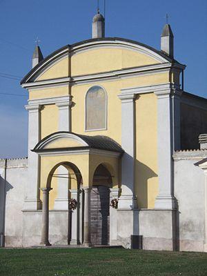 Cornegliano Laudense - Image: Cornegliano Laudense chiesa parrocchiale facciata