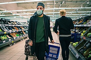 Coronavirus COVID-19 face mask in supermarket.jpg