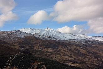 Coronet Peak - View of Coronet Peak during the ski season