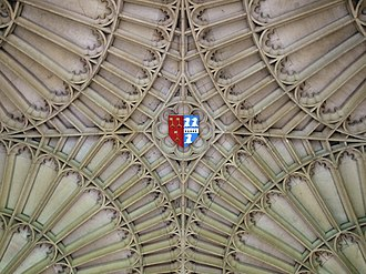 John Spencer (priest) - Arms of John Spencer, ceiling, Corpus Christi College, Cambridge: Dean of Ely impaling Spencer (ancient)