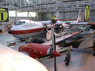 Royal Air Force Museum Cosford - The Armstrong Whitworth Argosy C1 on display in Hangar 1