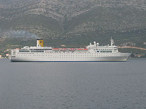 MS Costa Allegra - Costa Allegra off the coast of Korčula, Croatia in 2004.