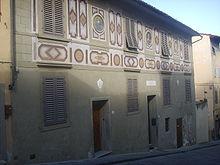 Maison de Galilée Costa San Giorgio à Florence.