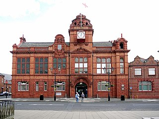 Jarrow Town Hall Municipal Building in England