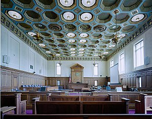 Federal Building and United States Courthouse (Sioux City, Iowa) - Image: Courtroom, United States Courthouse, Sioux City, Iowa