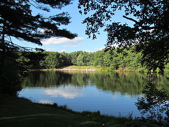 Leominster, Massachusetts - Crow Hill Pond at Leominster State Forest