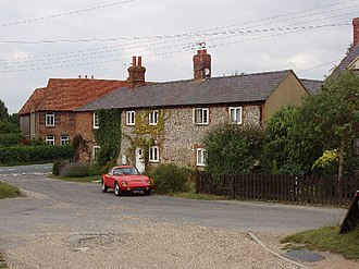 Crowell, Oxfordshire - Flint cottages in Crowell
