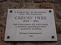 Csécsy-Jankovics house. Here lived Imre Csécsy (publicist, politician, writer) plaque. - 19 Pauler Street, Budapest.JPG