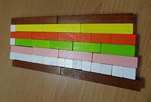 Cuisenaire rods -  example Cuisenaire rods