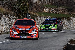 2008 World Rally Championship - Jean-Marie Cuoq and Jari-Matti Latvala on a transport section of the 2008 edition of the Monte Carlo Rally.