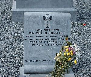 Dáithí Ó Conaill - Ó Conaill's gravestone in Glasnevin Cemetery, Dublin.