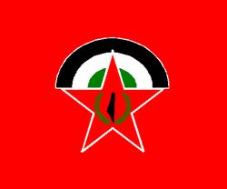 FDLP Partido logotipo y la bandera