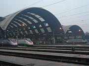 ETR 500 na Estação Central de Milão.