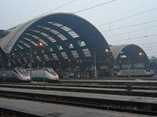 ETR 500 at Milan Central Station.
