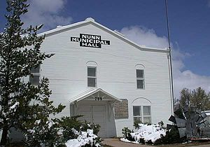 Nunn, Colorado - Old Municipal Hall in Nunn, Colorado (Museum Now).