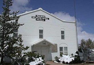Nunn, Colorado - Old Municipal Hall in Nunn, Colorado (Museum Now).