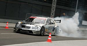 Burnout (vehicle) - Mercedes-Benz DTM car burnout