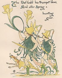 """Daffodil art from """"Flora's Feast"""" - The art of Walter Grane (page 171 crop).jpg"""