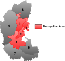 "Location of Longfeng (""2"") within Daqing City"