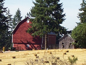 National Register of Historic Places listings in Linn County, Oregon - Image: David & Maggie Aegerter Barn