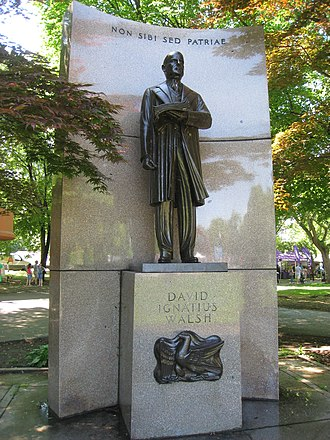 David I. Walsh - Memorial for Walsh in Boston