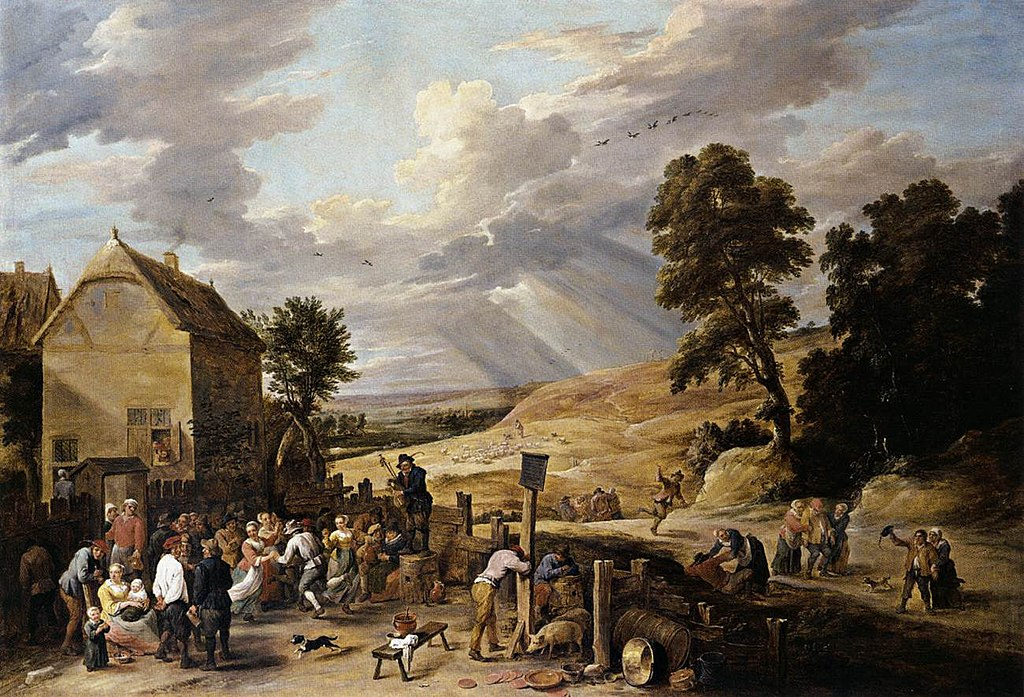 File David Teniers Ii Peasants Dancing Outside An Inn