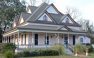 National Register of Historic Places listings in Emanuel County, Georgia - Image: Davis Proctor House, Twin City, GA, US
