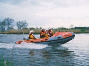 D-Class Lifeboat at Speed