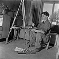 De in kiboets Kiwath Brenner tot bronsgieter omgeschoolde kunstschilder Jacob Lu, Bestanddeelnr 255-0591.jpg