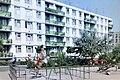 Debrecen, Nyár utca 1-5 sz. az Űrhajósok tere felől. Fortepan 21668.jpg