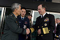 Defense.gov News Photo 101208-N-0696M-110 - Chairman of the Joint Chiefs of Staff Adm. Mike Mullen U.S. Navy thanks Chairman of the South Korean Joint Chiefs of Staff Gen. Han Min-koo after.jpg