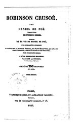 Daniel Defoe: Robinson Crusoé (Borel)