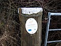 Defra notice on a gatepost - geograph.org.uk - 639953.jpg