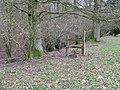 Defunct stile near Upper Barn hanger - geograph.org.uk - 1734527.jpg