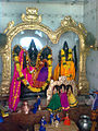 Deities of Lord Rama Seeta and Lakshmana at Pogallapalli temple.jpg