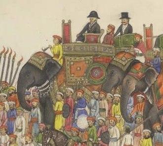 Sir Thomas Metcalfe, 4th Baronet - Image: Delhi Book (detail Thomas Metcalfe)