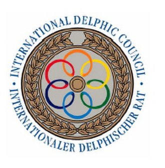 International Delphic Council - Coat of arms of the International Delphic Council, was designed and patented by Christian Kirsch, 1995