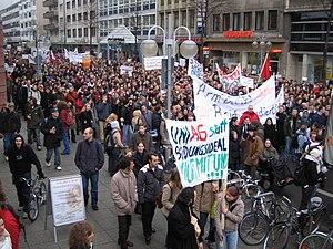Demo - gegen Studiengebühren - Mannheim